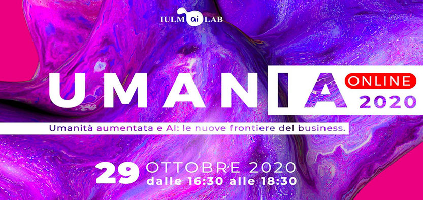 Save the Date – UMANIA 2020 – 29 Ottobre ore 16.30